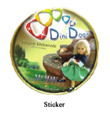 Dini Door Sticker